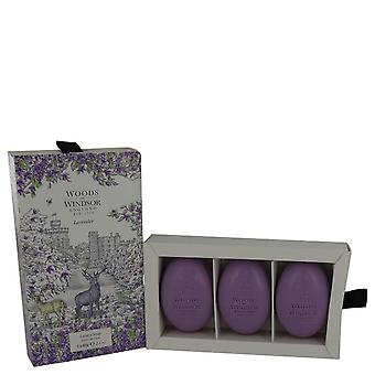 Lavender Fine English Soap By Woods of Windsor 3  x 2.1 oz Fine English Soap
