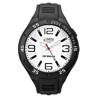 Limit Men's Black Rubber Strap | Wit wijzerplaat 5796.65 Horloge