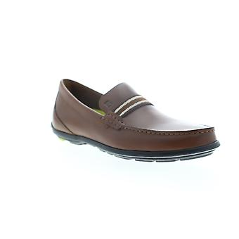 Bostonian Grafton Driver  Mens Brown Leather Slip On Loafers Shoes