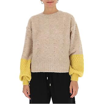 See By Chloé Chs20amp196009ca Women's Beige Wool Sweater