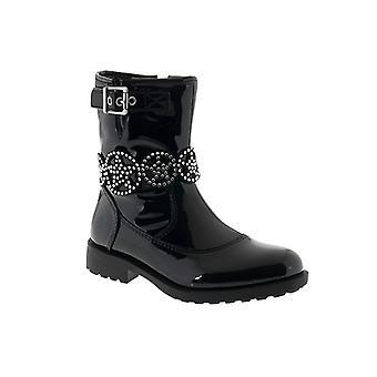 Lelli Kelly Girls Ann Mid LK3692 Black Patent Boots