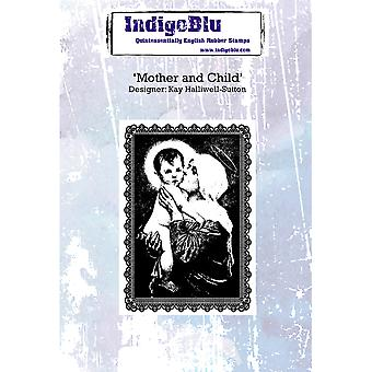 IndigoBlu Mother And Child A6 Rubber Stamp
