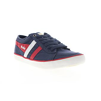 Gola Comet  Mens Blue Canvas Lace Up Lifestyle Sneakers Shoes