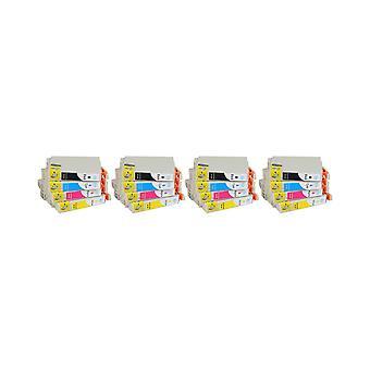 RudyTwos 4x Replacement for Epson 16XL Pen Set Set Ink Unit Black Cyan Yellow & Magenta (4 Pack) Compatible with Workforce WF-2010W, WF-2510WF, WF-2520NF, WF-2530WF, WF-2540W, WF-2540WF, WF-2630WF, WF