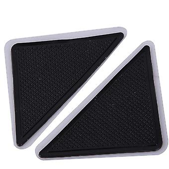 4pcs Home Floor Covor Covor Mat Grippers Auto Adeziv Anti Slip Tri Sticker - Reutilizabile Lavabile Silicon Grip Pads