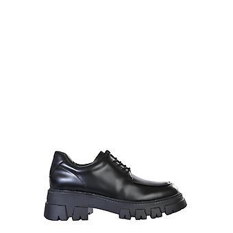 Ash Lab02 Kvinnor & apos, s svart läder lace-up skor