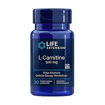 L-carnitine 500 mg 30 capsules végétales