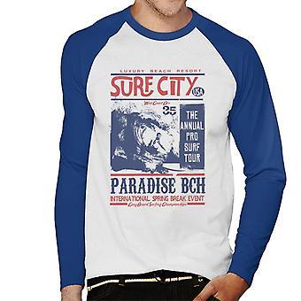 London Banter Surf City Men's Baseball Long Sleeved T-Shirt