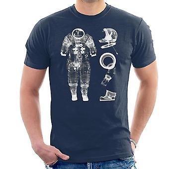 T-shirt NASA Apollo 14 A7 L tuta pressurizzata X Ray uomo
