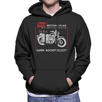 BSA Motorcycles Super Rocket Men's Hooded Sweatshirt