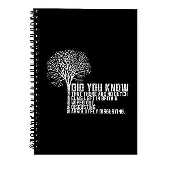 Alan Partridge Dutch Elm Did You Know Quote Spiral Notebook