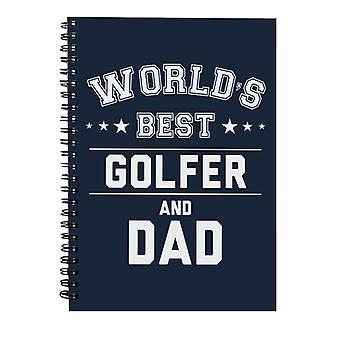 Verdens beste golfspiller og pappa Spiral Notebook