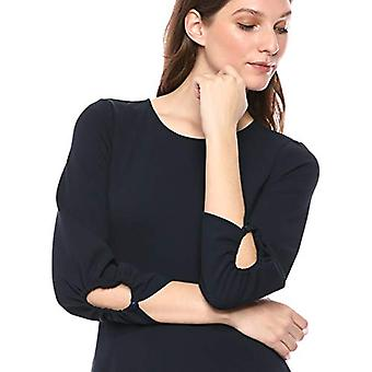 Brand - Lark & Ro Women's Gathered 3/4 Sleeve Crew Neck Fit and Flare ...