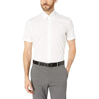 BUTTONED DOWN Men's Slim Fit Stretch Button-Collar Short-Sleeve Non-Iron Shir...