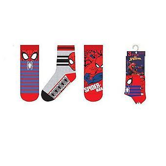 Spider-Man strumpor  3-pack - Blå/Grå/Röd