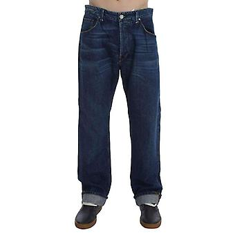 Blue Wash Cotton Baggy Loose Fit Jeans -- SIG3538117