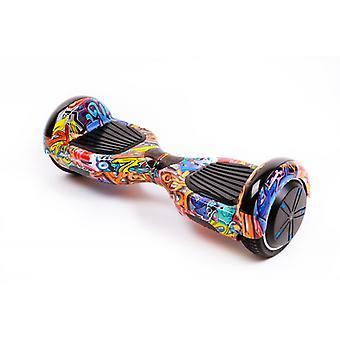 Hoverboard Smart Balance™, Zwykły Hiphop Pomarańczowy, 6,5 cala, Silnik 700 W, Bluetooth, Led