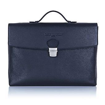 חצות כחול ריצ'מונד עור דש מעל מזוודה