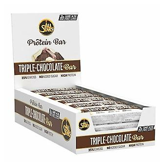 All Stars Triple Layer Protein Bar Triple chocolate 18 x 50 gr