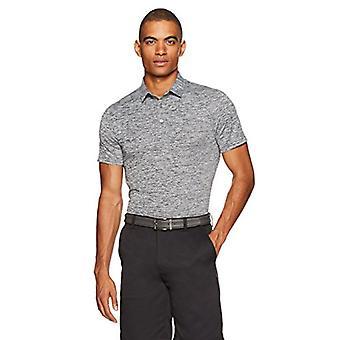 Essentials Men's Tech Stretch Polo Camisa, Heather gris oscuro, Grande