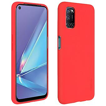 Back cover for Oppo A72/A52 with support function and original protection - red