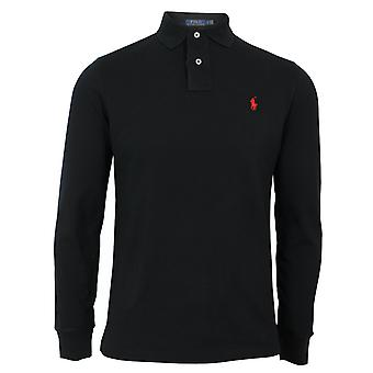 Ralph lauren men's long sleeve black polo shirt