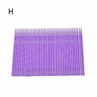100pcs Disposable Makeup Eyelashes Brushes - Cotton Swabs Used For Mascara Wand