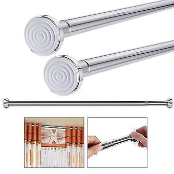 Extendable Telescopic Curtain Rod, Rail For Wardrobe - Bathroom Shower Clothes