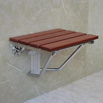 K-star Folding Bath Shower Seat Wall Mounted Relaxation Chair Solid Wood