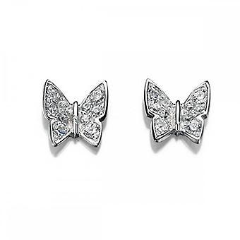 Elements Silver Pave Butterfly Stud Earrings E4098CZ364