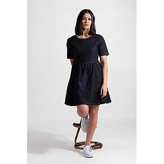 Womens denim swing dress - dark