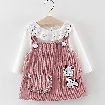 Baby Autumn Princess Clothes, Cute Long Sleeve T-shirt Tops, Cartoon Giraffe