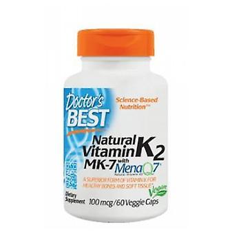 Ärzte Beste MK-7 mit MenaQ7 natürliche Vitamin K2, 100 mcg, 60 Veg Caps