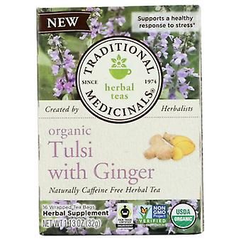 Traditional Medicinals Teas Organic Tea, Tulsi with Ginger 16 Bags