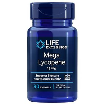 Life Extension Mega Lycopene Extract, 15 mg, 90 sgels