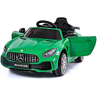 licensed Mercedes Benz Gtr amg 6V 7A electric ride on car green with remote
