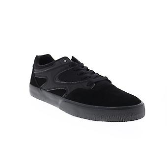 DC Kalis Vulc Mens Black Suede Skate Sneakers Schoenen