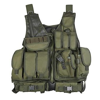 Outlife Men Military Tactical Vest Paintball, Camouflage Molle, Hunting Assault