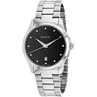 Gucci Unisex's G-Timeless Black Dial Watch - YA126456