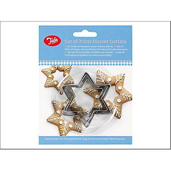Tala Plain Star Frézy Set x 3 10A09519