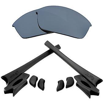 Ersättningslinser Kit för Oakley Flak Jacka Silver Mirror Svart Anti-Scratch Anti-Glare UV400 av SeekOptics