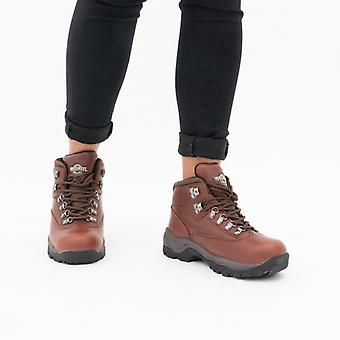 Northwest Territory Peak Ladies Leather Waterproof Hiking Boots Brown