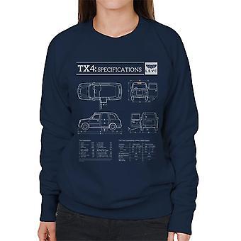 London Taxi Company TX4 Specifikationer Levc Kvinnor' s Sweatshirt
