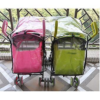 Stroller Raincoat Side By Side Stroller Weather Shield Baby Rain Cover
