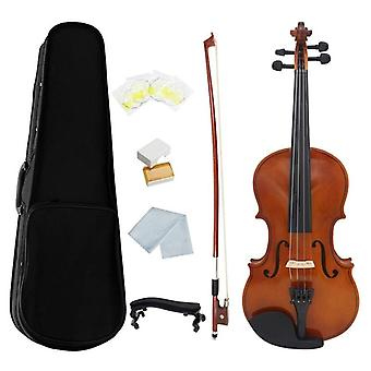 Violin Natural Acoustic Solid Wood Spruce Flame Maple Veneer Violin Fiddle With