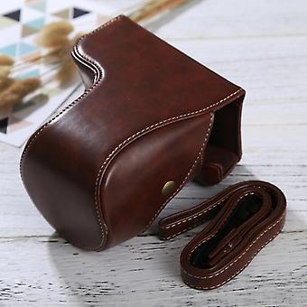كامل الجسم كاميرا PU حقيبة جلدية مع حزام لسوني ILCE-6500 / A6500 (القهوة)