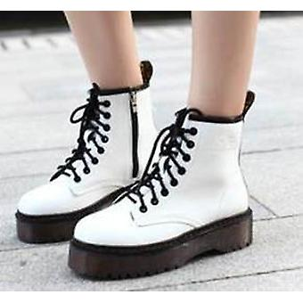 Fashion Warm Plush Snow Boots Women Pu Leather Shoes For Winter Ankle Boots