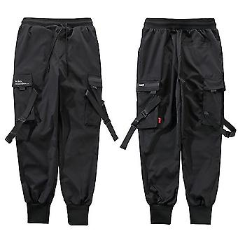 Hip Hop Cargo Pockets Men Streetwear Joggers Pants