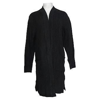 Linea de Louis Dell'Olio Women's Sweater Open Front Cardigan Negro A343439
