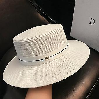 Women's Sun Hat - Female Summer M Letter Straw Visor Caps